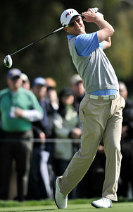 John Senden on the 2nd tee during the third round of the Northern Trust Open at Riviera Country Club in Pacific Palisades , CA. 2-19-2011. (John McCoy/staff photographer)