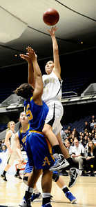 Game action as Oak Park high looses 30 to 44 Bishop Amat in Southern Section Div. III-A CIF title. Anaheim Ca. Feb 29,2012. Photo by Gene Blevins/LA DailyNews