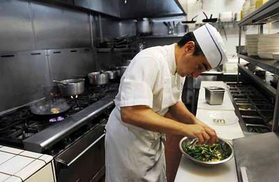 Ombra Ristorante owner chef Michael Young at his Studio City restaurant. (Hans Gutknecht/Staff Photographer)