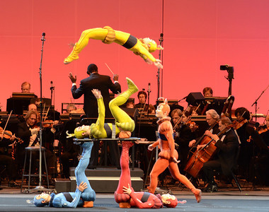 Cirque du Soleil performers during Opening Night at the Hollywood Bowl, Friday, June 17, 2011 in Hollywood, Ca. (Hans Gutknecht/Staff Photographer)