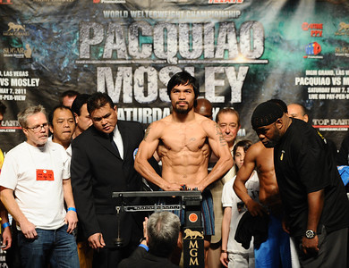 Pacquiao vs Mosley Weigh In