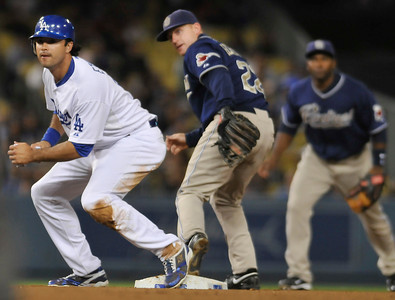The Dodgers lost 3-1 to the San Diego Padres in a game played at Dodger Stadium in Los Angeles,CA 9/22/2010 (John McCoy/staff photographer)