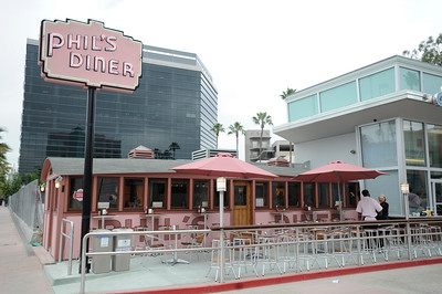 Phil's diner just re-opened on tuesday and is a popular place after being closed, and relocated 12 years ago when the subway was being built. Phil's is owned by Malissa  and Cacey Hallenbeck. North Hollywood, CA 4-21-2011. (John McCoy/staff photographer)
