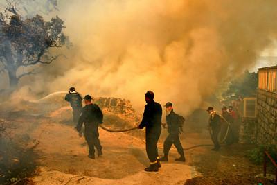 APTOPIX CROATIA DUBROVNIK FIRE