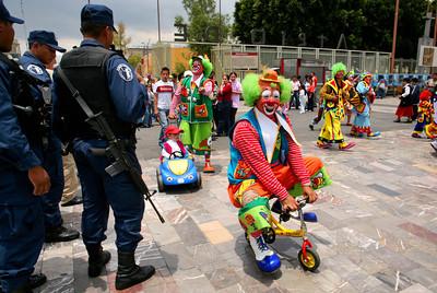 APTOPIX Mexico Clowns Pilgrimage