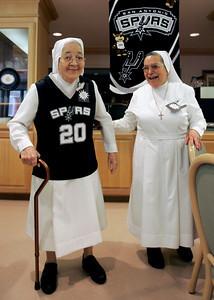 Cheering Nuns Basketball