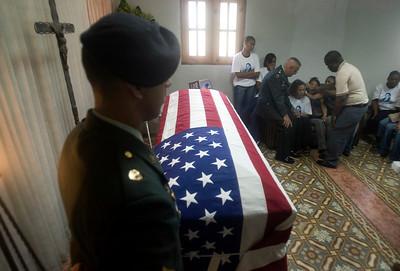 APTOPIX Dominican Republic US Iraq  Funeral