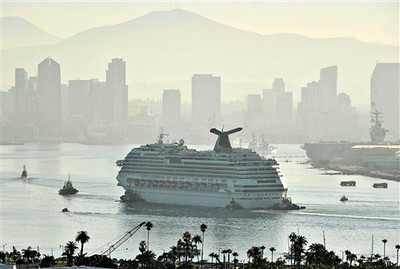 APTOPIX Cruise Ship Fire