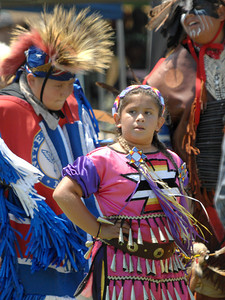 Native American Indians from a variety of tribes gathered together at Moorpark College for a powwow. Sacred dances were performed by Indians dressed in the traditional regalia from their tribes. Vendors were also on hand to sell native American inspired jewelry and artworks.  Moorpark, CA 07/17/2010 (John McCoy/Staff Photographer)