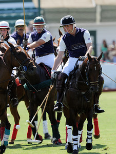 Prince William plays polo for the Royal Salute Foundation Team during a round robin tournament at the Santa Barbara Polo & Racquet Club in Carpinteria, CA to raise funds for The American Friends of the Foundation of Prince William and Prince Harry and Polo Training Center Santa Barbara.  (Hans Gutknecht/LA Daily News)