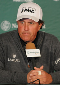 Phil Mickelson during a press confrerence. Wednesday was reserved for the Pro Am at Riviera Country Club, one day before the start of the Northern Trust Open. Pacific Palisades, CA 2/15/2012(John McCoy/Staff Photographer)