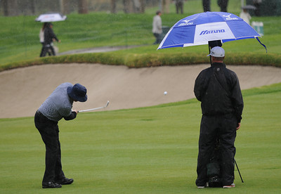 Wednesday was reserved for the Pro Am at Riviera Country Club, one day before the start of the Northern Trust Open. Pacific Palisades, CA 2/15/2012(John McCoy/Staff Photographer)