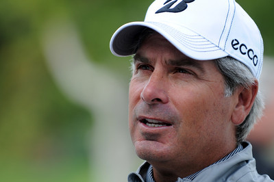 Fred Couples talked is a fixture at Rivera, nearly winning the 2011 tournament. Wednesday was reserved for the Pro Am at Riviera Country Club, one day before the start of the Northern Trust Open. Pacific Palisades, CA 2/15/2012(John McCoy/Staff Photographer)
