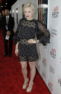 """Francesca Fisher-Eastwood arrives at the premiere of """"J. Edgar"""" during the Opening Night Gala of AFI FEST 2011 in Los Angeles, Thursday, Nov. 3, 2011.  """"J. Edgar"""" opens in theaters Nov. 9, 2011.  (AP Photo/Matt Sayles)"""