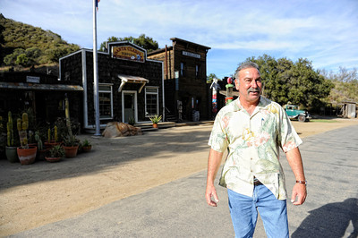 Owner Steve Arklin at his Western town at Rancho Deluxe Movie Ranch in Santa Clarita (Hans Gutknecht/Staff Photographer)