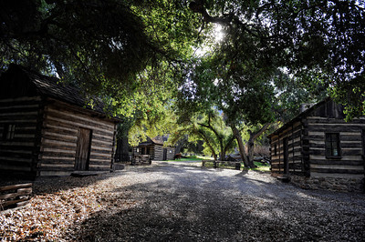 Log cabins at Rancho Deluxe Movie Ranch in Santa Clarita (Hans Gutknecht/Staff Photographer)