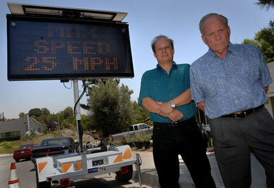 SAC story on sign bought by resident in hope in slowing down drivers