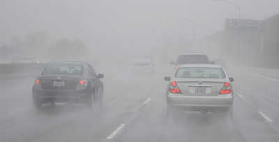 Drivers had almost zero visibility while driving on the 101 freeway through the Agoura Hills, CA.  Dec 20,2010.  photo by Gene Blevins/LA Daily News