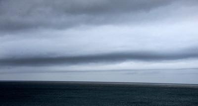 Low line rain clouds off the coast make their way toward  Malibu CA.  Dec 20,2010.  photo by Gene Blevins/LA Daily News