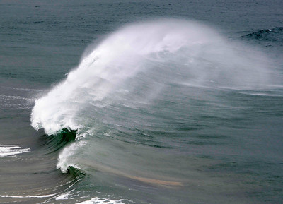 Winds from the storms caused water to spray off the waves in Malibu. CA.  Dec 20,2010.  photo by Gene Blevins/LA Daily News