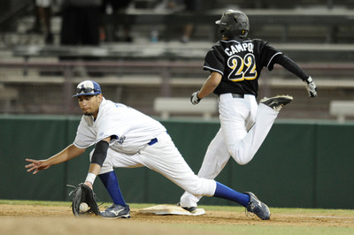 San Fernando played El Camino Real in the Semi Finals at Dedeaux Field on the campus of USC. Los Angeles CA 6-1-2011. (John McCoy/Staff Photographer)