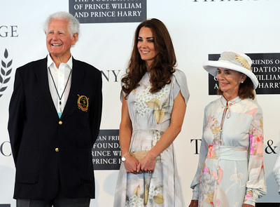 Duchess of Cambridge Kate with the ( check for name he is the head of the polo club)  at the Santa Barbara Polo & Racquet Club in Carpinteria, CA Saturday, July 9, 2011. (Hans Gutknecht/LA Daily News)