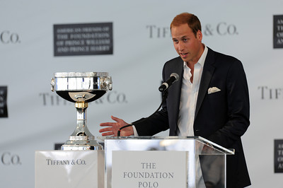 Prince William speaks at the Santa Barbara Polo & Racquet Club in Carpinteria, CA Saturday, July 9, 2011. (Hans Gutknecht/LA Daily News)