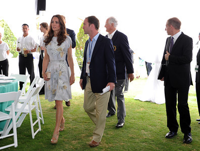 Duchess of Cambridge Kate at the Santa Barbara Polo & Racquet Club in Carpinteria, CA Saturday, July 9, 2011. (Hans Gutknecht/LA Daily News)