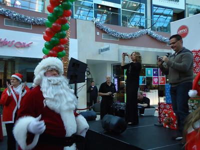 Aaron Gamez front and center at Santa Walk 2011 at Westfield Shoppingtown Topanga.