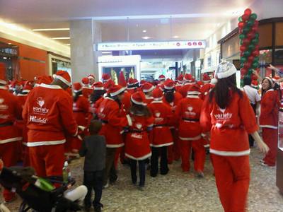 Thomas Kenna sent in this picture of a sea of Santas at Westfield Topanga's Santa Walk 2011.