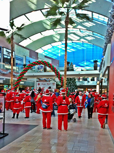 Catherine Outing sent this picture of St. Nicks at Santa Walk 2011 at the Westfield Topanga Mall.