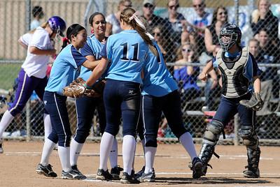 The Saugus girls defeated Valencia 4-2 in eight innings. Valencia, CA 5-10-2011. (John McCoy/staff photographer)