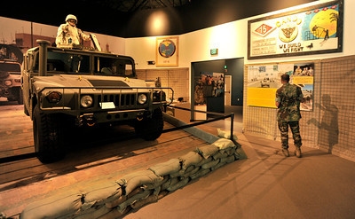 The U.S. Navy Seabee Museum is re-opening to the public after relocating to a new state-of-the-art facility on July 22. Seabee Museum is located next to visitor control at Pass and ID at NBVC Port Hueneme. 23rd and Ventura Road. Admission and parking are free.  The new 38,000 square foot Seabee Museum facility features modern exhibits spaces, memorial garden, theater, education room, and gift shop.    The museum will be one of the attractions featured at Naval Base Ventura County's 2011 Seabee Days celebration. A free shuttle will take Seabee Days visitors to the new museum both Saturday, July 23, and Sunday, July 24. The museum will be open from 9 a.m. to 5 p.m. both days. The shuttle stop is at 23rd Avenue and Harris Street.  After Seabee Days is over, the museum will be begin its regular operating hours of 9 a.m. to 4 p.m. Monday through Saturday and noon to 4 p.m. Sunday. For more information visit www.history.navy.mil/seabeemuseum or call (805) 982-5165.   Port Hueneme, Ca 7-21-2011. (John McCoy/Staff Photographer)
