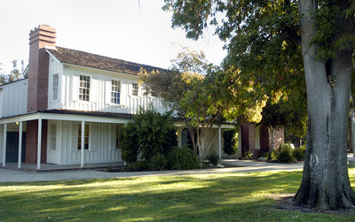 At Shadow Ranch Park, a historic house built in the 1870's was used for movies on Vanowen Street in West Hills, Ca.  (Tina Burch/Staff Photographer)