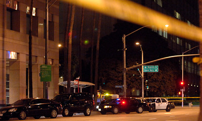 2/16/12 - Streets are closed in downtown Long Beach surrounding the federal building on Ocean Boulevard after an ICE agent shot two co-workers. Two people were transported to local hospitals. Photo by Brittany Murray / Staff Photographer