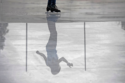 Mariella Quiroga makes her way around the rink Monday, October 24, 2011 at Woodland Hills Ice at the corner of Topanga Canyon Boulevard and Erwin Street in Woodland Hills. The outdoor facility features over 7,000 square feet of real ice and is open 7 days a week through February 5, 2012. (Hans Gutknecht/Staff Photographer)