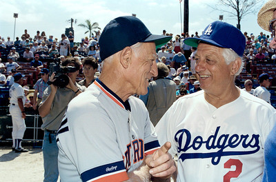 Tommy Lasorda and Sparky Anderson