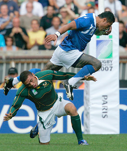 APTOPIX FRANCE WCUP RUGBY WORLD CUP SOUTH AFRICA SAMOA