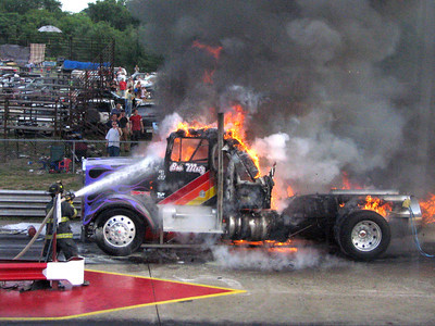 Jet Truck Fire