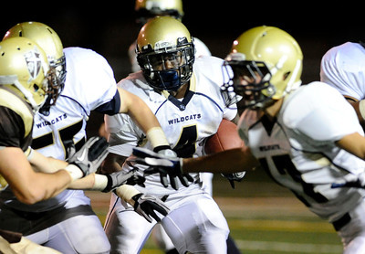 West Ranch's Jeff Coprich #4 looks for some running room during their game against St Francis at St. Francis High School in La Canada, CA Friday, September 30, 2011. (Hans Gutknecht/Staff Photographer)