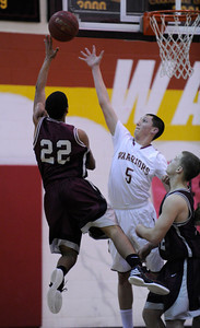 The Alemany boys defeated Independence 71-49  during the Div. III State opener in a game played at Alemany High School in Mission Hills, CA 3/07/2012(John McCoy/Staff Photographer)