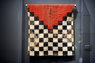 Man's Tunic (Uncu) with Checkerboard Design at the Contested Visions in the Spanish Colonial World at the Los Angeles County Museum of Art.The Contested Visions in the Spanish Colonial World is the first exhibition in the U.S. to examine the connection between ancient and colonial artistic traditions in Latin America. By considering the pre-Columbian (Inca and Aztec) origins of Mexico and Peru, the show broadens our understanding of how art and power intersected in the Spanish colonial world. (Hans Gutknecht/Staff Photographer)