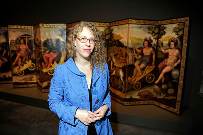 Ilona Katzew, PH.D. Curator of  the Contested Visions in the Spanish Colonial World at the Los Angeles County Museum of Art.The Contested Visions in the Spanish Colonial World is the first exhibition in the U.S. to examine the connection between ancient and colonial artistic traditions in Latin America. By considering the pre-Columbian (Inca and Aztec) origins of Mexico and Peru, the show broadens our understanding of how art and power intersected in the Spanish colonial world. (Hans Gutknecht/Staff Photographer)