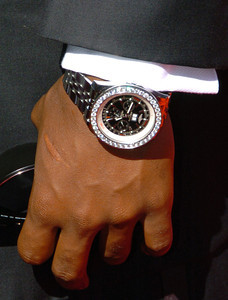 Check out the bling on this watch belonging to NFL Baltimore Ravens QB, and former Heisman Throphy winner, Troy Smith, arrives for the ESPY awards at the Kodak Theatre in Hollywood  California 7-11-2007.  photo by John McCoy/LA Daily News