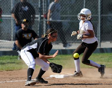 The Kennedy girls softball team defeated San Fernando 7-6 in a game played at Kennedy High School in Granada Hills, CA 3/21/2012(John McCoy/Staff Photographer)
