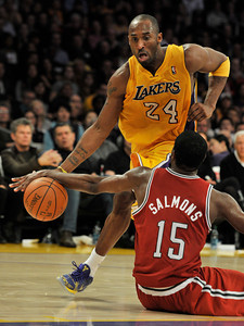 Kobe Bryant has the ball stolen from him by John Salmons in the 4th quarter. The Lakers were defeated by the Milwaukee Bucks 98 to 79 in a game played at Staples Center in Los Angeles, CA 12-21-2010. (John McCoy/staff photographer)