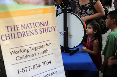 The National Children's Study booth at the North Valley Caring Services Family Fair in North Hills Saturday, April 2, 20011. (Hans Gutknecht/Staff Photographer)