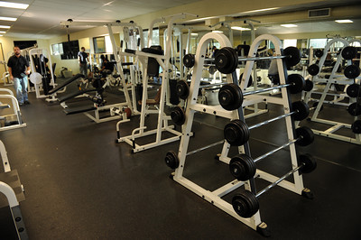 The weight room at Rancho San Antonio home for boys in Chatsworth, CA. (Hans Gutknecht/Staff Photographer)