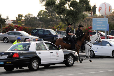 Security is at an all-time high at Dodger Stadium in Los Angeles, CA 5-17-2011. (John McCoy/staff photographer)