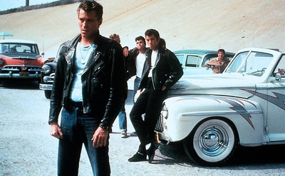 "Jeff Conaway, foreground, in ""Grease"""